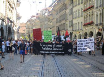 Revolutionärer Block an AHV+ Demo