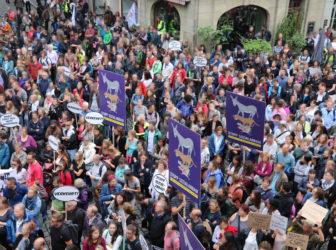 Protest gegen Sozialabbau & Spontandemo