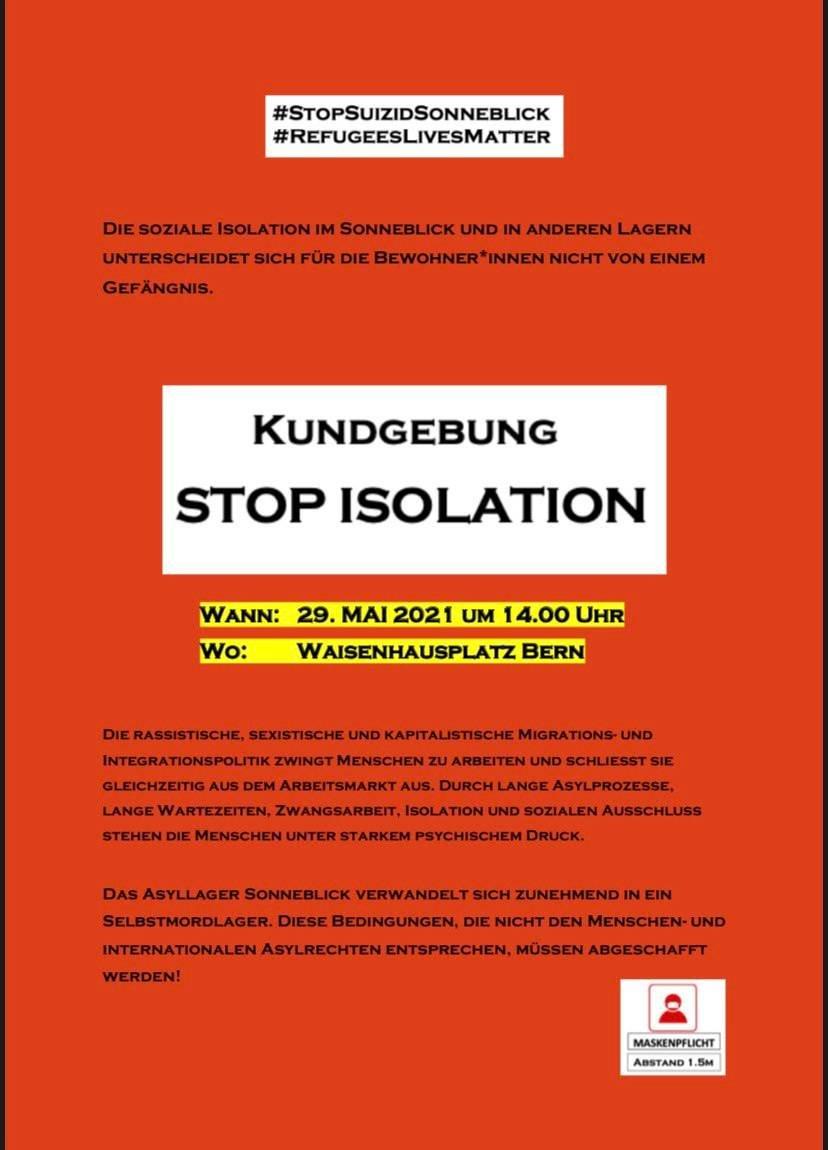 Kundgebung Stop Isolation @ Bern